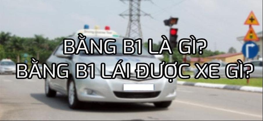 Bằng lái xe B1 có lái được xe kinh doanh hayxe công ty không?